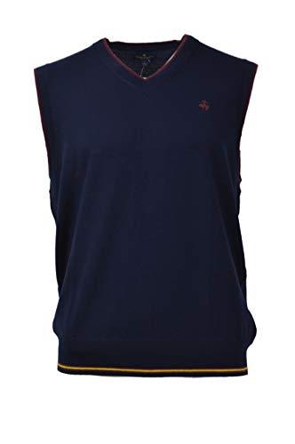 Merino Wool Sweater Vest - Brooks Brothers Men's Merino Wool Ribbed V-Neck Sweater Vest Navy Blue (X-Large)