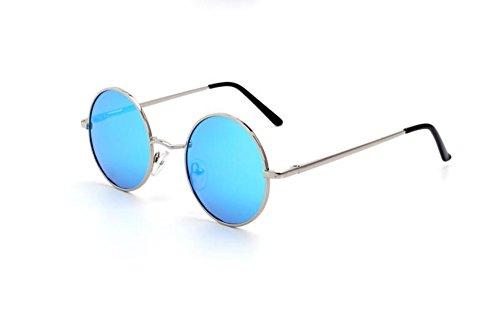 lunettes Glacier Bleu Lunettes soleil pour polarisées Huateng Argent hommes et de de Vintage femmes soleil UV400 wYZpxqRx