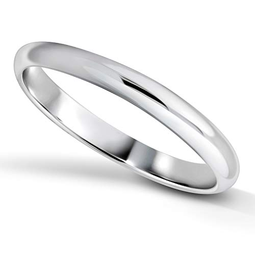 BSD Treasure 925 Sterling Silver Ring Comfort Fit Unisex Wedding Band 3mm Ring, Sizes 6-12 (9) -