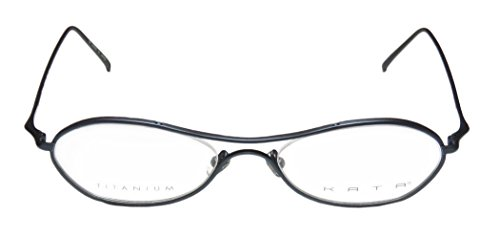 Kata Tempo Womens/Ladies Rx Ready Stylish Designer Full-rim Titanium Eyeglasses/Eyewear (52-19-140, Matte Navy)