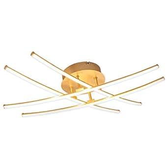 LED Lámpara de techo Yael (Moderno) en Dorado hecho de ...