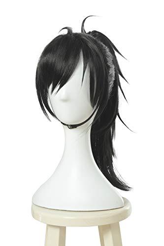 ROLECOS Hyakkimaru Cosplay Wig Black Clip on Ponytail