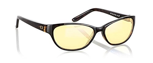 Gunnar Optiks JOU-02301Z Joule Full Rim Advanced Computer Glasses with European Modernistic Detailing and Amber Lens Tint, Tortoise Frame - Finish Tortoise