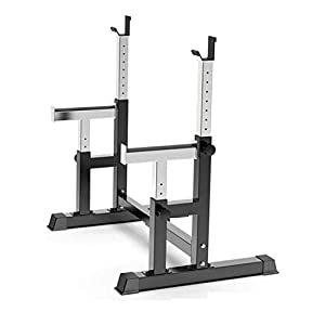 POROPL Max Load 550LBS Dumbbell Racks,Adjustable Barbell Rack Squat Stand Dipping Station Weight Bench Press Stand for Gym Home(Ship from US)