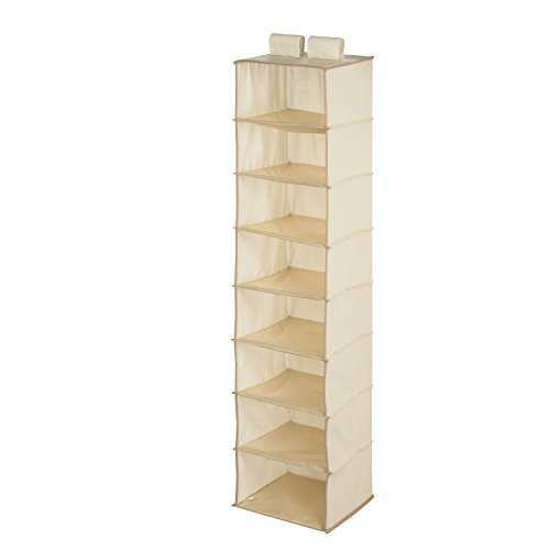 Honey-Can-Do SFT-01253 8-Shelf Hanging Organizer, Natural by Honey-Can-Do