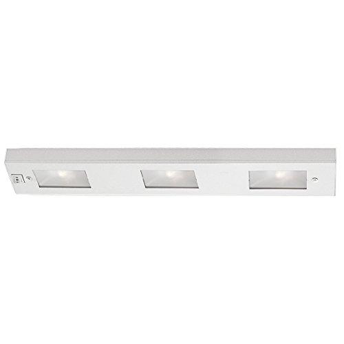 WAC Lighting BA-LIX-3-WT Premium Line Voltage 3-Light Xenon Under Cabinet, White Finish with Frosted Glass Lens (Wac Under Cabinet Lighting compare prices)