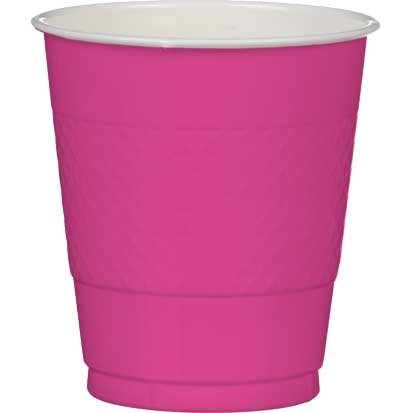 Bright Pink Plastic Cups, 20ct