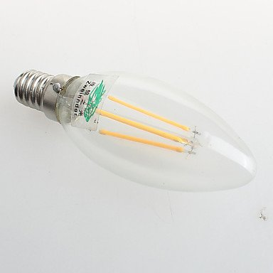 RTS 4 W E26/E27 LED Velas de bombillas C35 4 COB 380 lm cálida blanco decorativa AC 220 - 240 V 1 pieza: Amazon.es: Iluminación