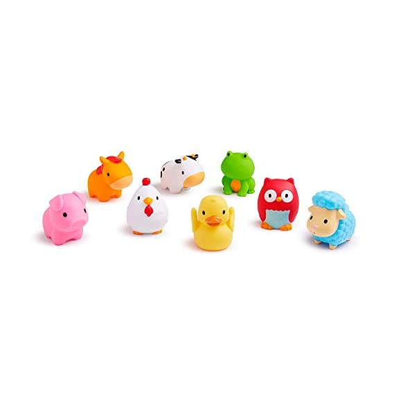 ARHA IINTERNATIONAL Fun Toddler Baby Bath Toys for 6 Month Kids, Assorted Characters