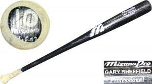 Mlb Unsigned Bats - Gary Sheffield Unsigned Game Used Cracked Mizuno Pro Bat - MLB Game Used Bats