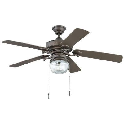 Home Decorators Bromley 52 in. LED Indoor/Outdoor Ceiling Fan, Bronze