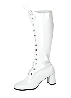 fashion boots drawing. knee high boots - fancy dress fashion eyelet size 6 uk white drawing