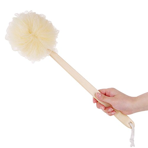 Can be hanging Long wooden handle Bath Puff Bath Pouf Sponge Bath Sponge Exfoliation Body Puffs Bath Scrubbers A style
