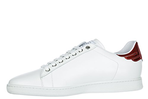 Trainers Shoes Men's White Richmond John Leather Sneakers xIaqE0