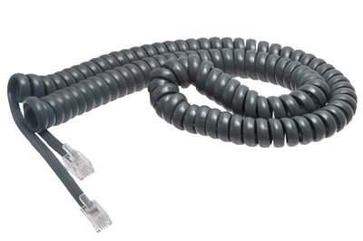 Cisco Gray Coiled Telephone Handset Cord - 12 Foot Standard Length - 4 Inch Flat Leader- Heavy Duty - Universal - GUARANTEED for life - | Cisco 7940 / 7965 / 7914 / 9971 / 7937 / 7960 / 7821 / 7937 / All Models - Coiled Telephone Handset Cord 12 FT