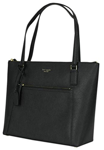 Kate Spade New York Cameron Pocket Womens Saffiano Leather Tote (BLACK)