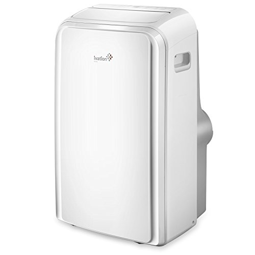 Ivation 12,000 BTU Portable Air Conditioner – Dual-Hose AC Unit & Dehumidifier w/Digital LED Display, Multi-Mode Function & Remote Control – 450 Sq/Ft Coverage