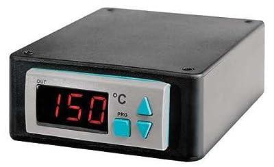 BriskHeat SDC120JC-A SDC Benchtop Temperature Controller with Digital Display, Range: 0 To 600°C, Type-J Thermocouple Sensor, Power Input/Output: 120VAC