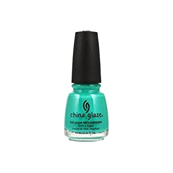 Amazon.com : China Glaze Nail Polish, Turned Up Turquoise, 0.5 Ounce ...