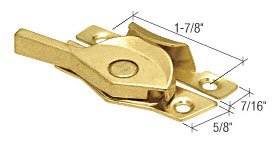 C.R. LAURENCE F2587 CRL Brass Double Hung Window Sash Lock With 1-7/8 Screw Holes