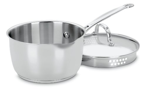 ef's Classic Stainless 2-Quart Saucepan with Cover ()