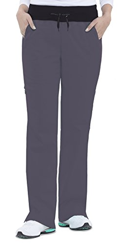 Healing Hands Green Label Yoga Women's Kaylee 9143 Knit Waist Cargo Pant Pewter- X-Small