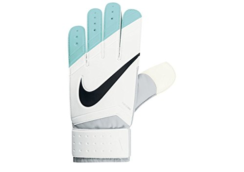 Nike Grip Goal Keeper Junior Gloves (White/Hyper Turquoise, 8) (Soccer Control Keeper)
