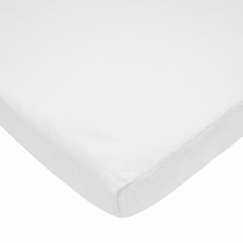 American Baby Company Fitted Portable/Mini-Crib Sheet,Heavenly Soft Chenille,White, for Boys and Girls