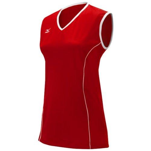 Mizuno Women's Classic Avalon Sleeveless Jersey, Red/White, Small