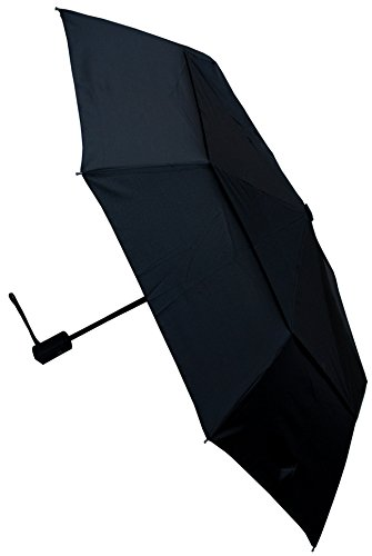 COLLAR AND CUFFS LONDON - Windproof COMPACT YET STRONG - Reinforced Frame Umbrella - Double Canopy - Auto Open & Close Black (Umbrella Frames)