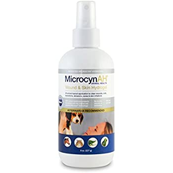 MicrocynAH Wound and Skin Care Sprayable Hydrogel, 8-Ounce