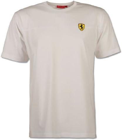 Ferrari camiseta Scudetto raya blanca pequeña: Amazon.es: Ropa y accesorios