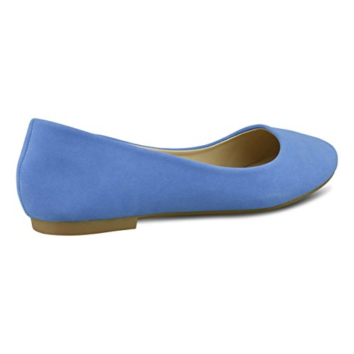 Amazon.com | Premier Standard Women's Classic Round Toe Ballerina Walking  Slip on Suede Flats - Comfortable Closed Toe Ballet | Flats