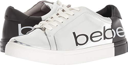 bebe Women's Charley Silver/Black 7 B US B (M)
