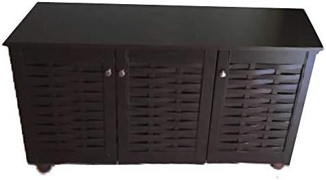 Sauder Anda Norr Display Cabinet, L 31.77 x W 16.02 x H 50.2 , Smoked Oak