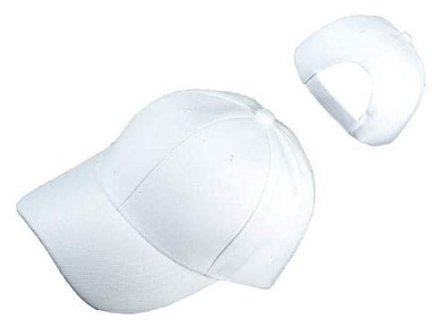 2 Pack of The Best Adjustable velcro Hat - WHITE and YELLOW