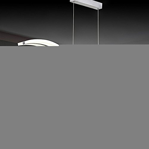 Review Create For Life Modern Wave LED Pendant Light Dimmable Fixture Ceiling Contemporary Chandelier Light LED Hanging Light Fixture for Contemporary Living Room (Support Dimming With Remote Control 36W)