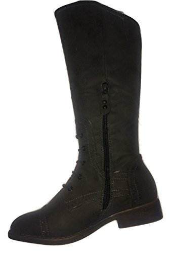 High Ladies 3 Leg Inside Lace Trim Zip Black Boot L9311 UK pxqqwZT