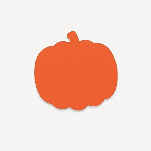8 Inch Foam Halloween Pumpkins - Craft Shapes - 24 Pack ()