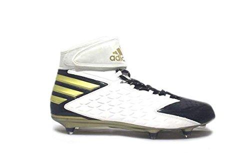 adidas Men's SM Freak High D Football Cleats (14, Cool Navy/Gold Metallic/White)
