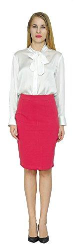 Marycrafts Women's Work Office Business Pencil Skirt M Red