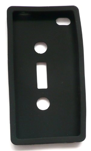 Emartbuy Apple Iphone 4 4G 4Gs 4S Hd-Lcd-Display Schutzfolie Und Casette Tape Silicon Case / Cover / Skin Schwarz