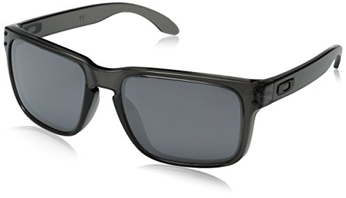 Oakley Holbrook Sunglasses, Grey Smoke Frame/Black Iridium Lens, One - For Face Oval Frames