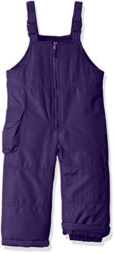 (London Fog Girls' Toddler Classic Snow Bib Ski Snowsuit, Purple Clash, 2T)