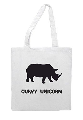 Sub Animal Unicorn Tote White Rhino Themed Names Shopper Bag Alternative Funny Curvy Cute Sublimation zd6Oq