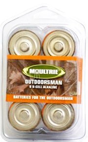 BRAND NEW! (4) Moultrie AKB-D D-Cell Alkaline Trail Game Camera Batteries - D50