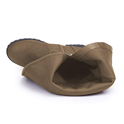 Stiefel Winter Herbst Europäischen Frauen Martin Große LIANGXIE Größe Und Hohe Khaki Stiefel Stiefel Und 2018 Amerikanischen n8c7aW4qav
