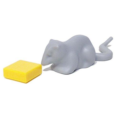 Lego Parts: Animal, Land - Rat with Cheese (Light Bluish (Lego Halloween Moc)