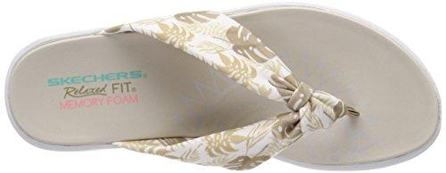 Skechers de Natural Upgrades Mujer para Plataforma Sandalias Beige 7WWnOr