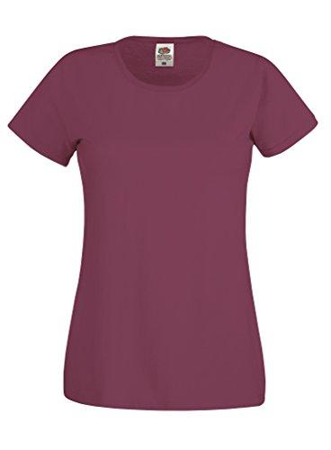 Fruit of the Loom - Camiseta - para mujer granate